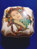 Rarity, carving Nicholas, zsolnay sissy bonbonier autumn decor anniversary 150