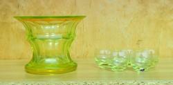 Moser uranium glass set