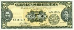 Fülöp-Szigetek 5 Peso 1949 UNC