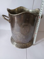 Silver-plated French champagne holder