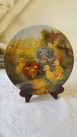 Vohenstrauss bavaria, dog, duck decorative plate