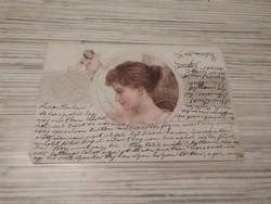 Antik Üdvözlő képeslap.