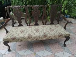 Chippandale style antique, mahogany 3 seater Victorian sofa, sofa,
