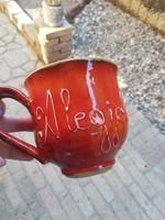 The best teacher is labeled half-liter ceramic mug-tile city