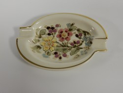 Zsolnay, ashtray decorated with floral motifs