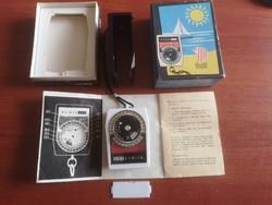 Régi WEIMAR fénymérő készülék dobozában