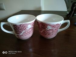 English scene faience cups