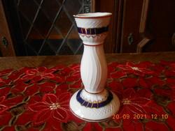 Raven house porcelain blue rose candle holder