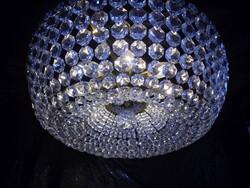 Bécsi kosár kerek kristály csillár 60-as évek 8égős