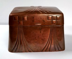 WMF vörösréz fedeles cukortartó doboz