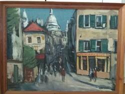 István Arató: street scene in Paris