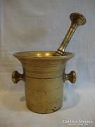 Antique copper mortar and pestle 3.5 kg