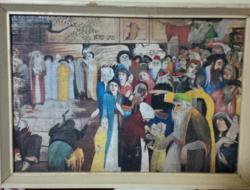 """Nyomat, """"A panaszfal bejáratánál Jeruzsálemben"""" című alkotás után"""