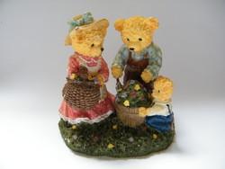 Vintage Lovable Teddies mackócsalád figura