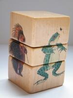 Vintage Sevi Stagukan forgatható fajáték, kocka