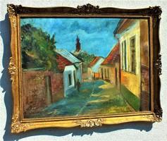 IILOSVAI VARGA, ISTVÁN KUNHEGYES, 1895 - 1978, BUDAPEST,60x80-s olaj faroston