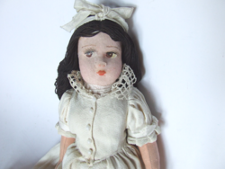 Old, antique textile, fabric doll, rag doll beautifully crafted full attire in antique clothes