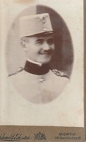 Antik katona fotó, vizitkártya