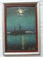 Painting depicting of ships