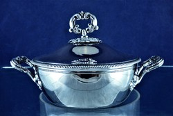 Very beautiful, antique, silver candy holder, French, ca. 1870 !!!