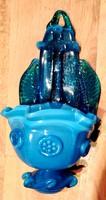 Martin Horváth blue glass holy water holder