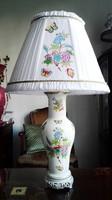 85cm magas Herendi QueenVictoria porcelán lámpa új szerelékkel