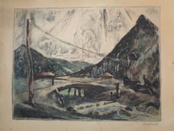 Unique graphics by Vilmos Aba-novák (1894-1941)