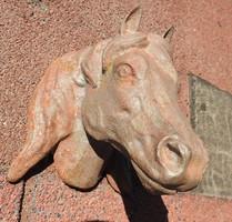 Antique iron horse head