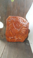 Old marked rooster ceramic wall decoration