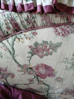 English flower pattern headboard set with canopy, curtains, accessories