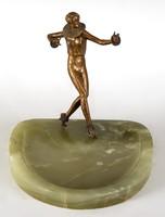 Josef lorenzl - harlequin dancer with green marble