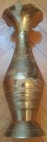 Copper vase, copper bowls