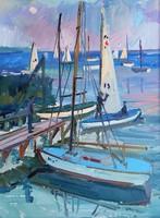 József Szamosvári (1931 -) sailboats on Lake Balaton