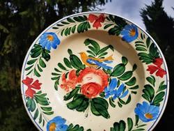 Antique rose wall bowl, Miskolc, 28 cm