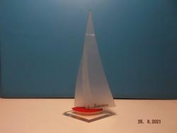 Retro Balaton plexiglass sailboat --- 3 ---