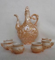 Retro mother of pearl luster ceramic drink set