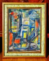 Árpád Elijah (1908-1980) painting, oil on canvas, with frame 49 x 39 cm, jjl. Elijah