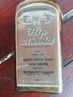 Régi Unicum Flip de chocolat likörös üveg palack