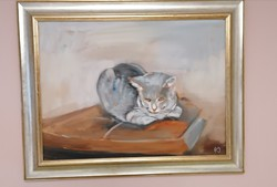 Painting mico cat