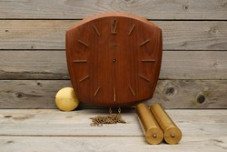 Old junghans heavy wall clock / mid century German clock / retro / old pendulum / speaker