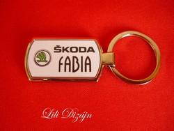 Skoda fabia metal keychain