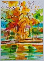 In the autumn sunshine. From Simon the elf creator, 32x24cm
