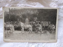 Antique postcard from the 1912 Vienna Eucharistic Congress, 'majesty and heir to the throne in the car'