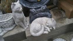 Rare kitten cat sculpture favorite animal figurine antifreeze artificial stone garden tomb memorial sculpture
