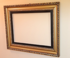Beautiful antique large picture frame / 74.5 x 95 cm