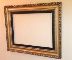 Gyönyörű antik, nagyméretű képkeret  / 74,5 x 95 cm