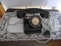 An old dial telephone is the property of the Hungarian Royal Post Office