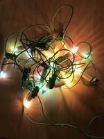 Régi karácsonyfadísz égősor fénysor színes fényfüzér