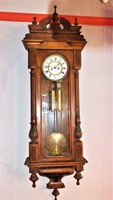 Two heavy extra large neo-renaissance (old German) antique wall clocks