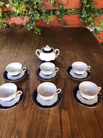 Zsolnay coffee cup set + sugar holder! Immaculate!